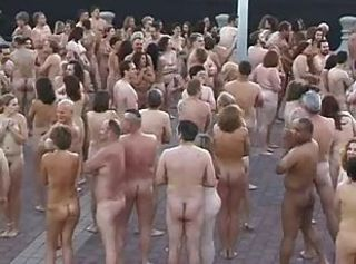 Spencer Tunick-master of mass public nudity! _: flashing hairy public nudity