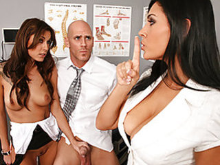 Chayse is having a tough time getting an orgasm, which explains why she needs help, however from the test samples it turns out that her husband is to blame. Dr Raylene fixes the problem and shows Chayse how to get the most out of her husband's cock as the
