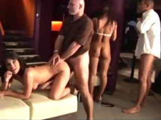 Clips from group sex behind an obstacle scenes
