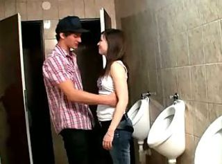 Cute teen Iveta get fucked in the toilet