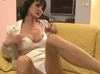 Brunette Mature Lingerie Amateur
