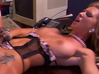 Boss' Chunky Cock Fucking Brooke Banner's Pussy In The Office