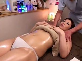 Japanese Massage Oiled Panty Pornstar