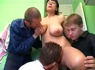 Mature mom fucked by son and his friends