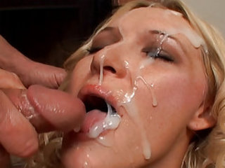 Jordan Styles knows how to please any cock as long as it's big and bad. She blows this big rod and gets off on sucking it for a long time. All her energy goes on this big cock and her reward is a nice load to the face that she has been so desperately wait