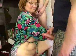 Mature mother fucked by son and his friends