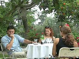 Vampy milf seduced her boyfriend with pussy petting right in a cafe!