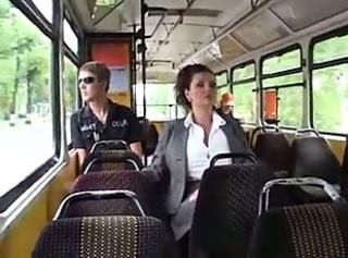 Gigantic Tits MIlking on Bus