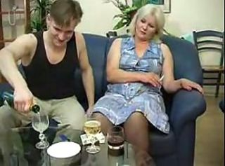 Drunk mother fucked by young son