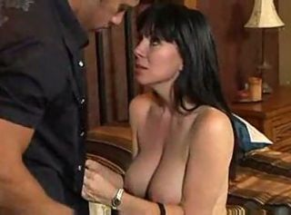 Hot Brunette Cougar Rayveness Bangs Friend     ;s Son