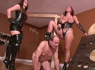 Mistress Megan devastating a slave _: bdsm