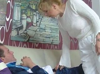 XXX German Nurse Mom fucks her Home Instance