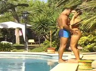 One hot couples fuck at the end of one's tether the pool
