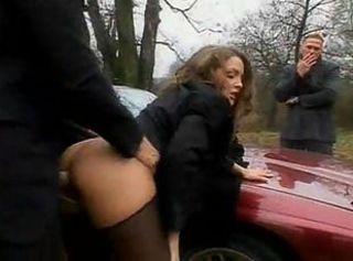 Russian Pickup slut hardcore outdoor sex