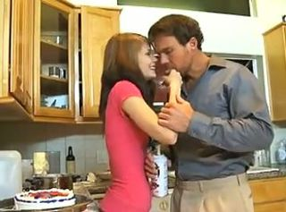 Babysitter Brunette Cute Kitchen Skinny Teen
