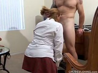 Pretty chesty secretary sucks the boss _: amateur bbw blowjobs