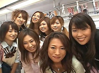 Crazy public Japanese lesbian kissing orgy on the top of train _: asian lesbian public