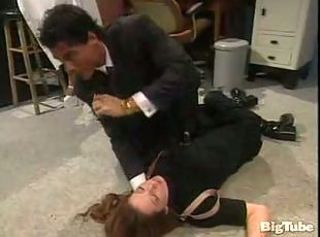 office girl gets facialafter fucking on floor