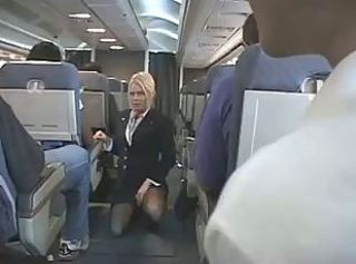 Blonde Flight Attendant _: blondes handjobs public nudity