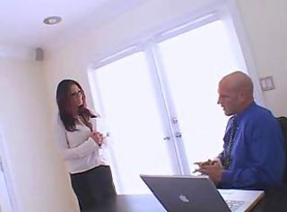 Ava at work in the office