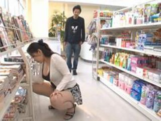 Voyeur Asian Slut Ayane Asakura Masturbates in a Bookshop