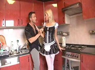 Inconsolable Blonde Maid Anal