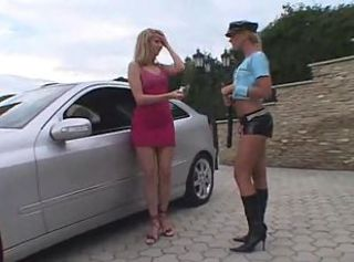 Hot cop wants main to eat the brush pussy