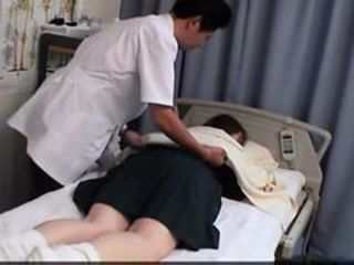 Japanese Woman get a massage and a...
