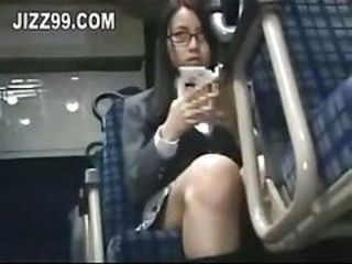 Schoolgirl seduced leg fucked away from geek on bus