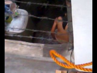 BOSO (Voyeur) HS Neighbor Showering at 5:30PM