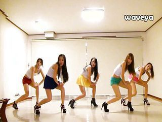 Waveya Korean dance top off