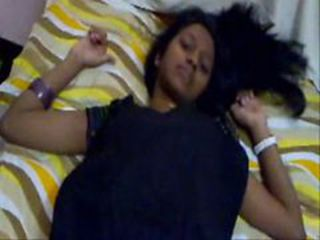 Indian shy girl doing blowjob and open cloth slowly t...