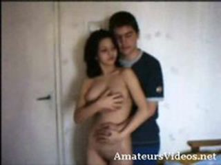 Amateur girl with boyfriend