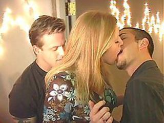 Busty Blonde Gets Jammed From Everywhere In A Threesome