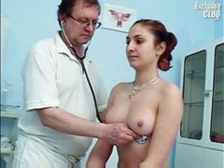 Doctor gets inside her at hand a speculum