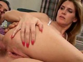 Lovely mama handling 2 raging dicks