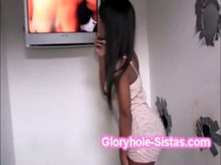 Tight ebony Tila Flame gets naughty squeezing gloryho...