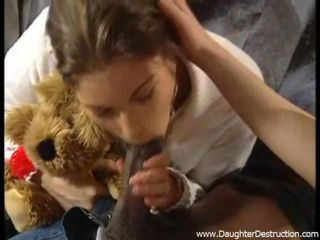 Watch this cute teen daughter get brutally abused in her mouth and ass by black monster cock