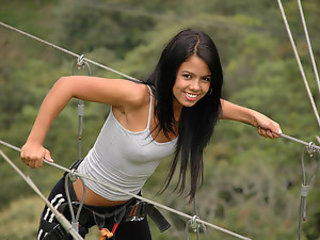 Gigi Spice - Two teen girls that might be the hottest stars of Latin porn industry invite you to take a jaunt with them to the mountains and admire the view there.