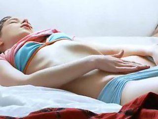 Super skinny russian girl fingering