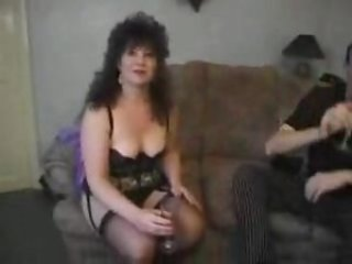 Sexy mature in black lace lingerie fucked