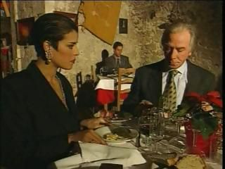 Elegant Italian Mature cheating cut corners on restaurant