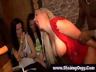 Girls next door go crazy at cfnm party