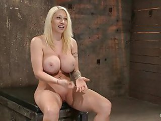 Super busty rope bondage slut