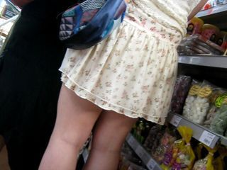 upskirt roughly the supermarket