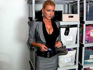 Sexy boss at the modeling agency