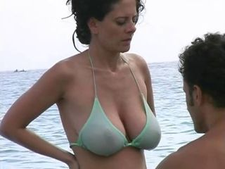 Hot Milf in Bikini at The Bea...