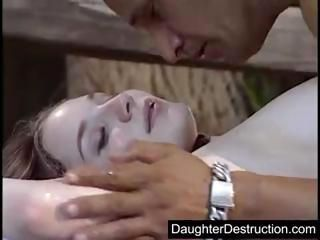 Extreme teen daughter destruc...