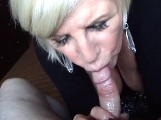 Blonde Granny Blowjob and Bre...