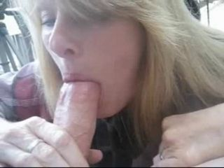 Amateur milf blowjob and swal...